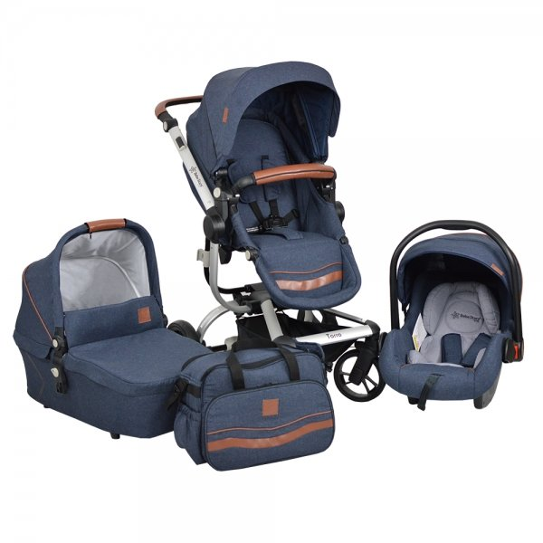 Bebe Stars Бебешка комбинирана количка Torro 3 в 1 Jean 360Т-181